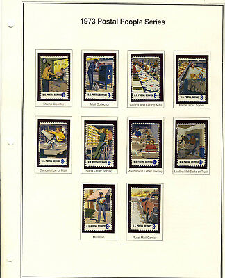 U.S. Postage Stamps 1973 Postal People Series in a  Lot of 10 New & Unused stamp