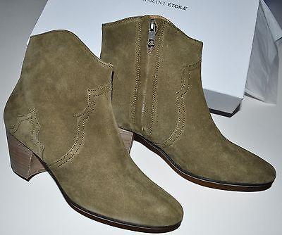 e50a64d09922 Isabel Marant Dicker Boots in Light Brown Suede Leather Size FR 39.5 39 1/2