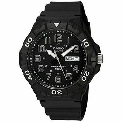 Casio Men's Quartz 'Dive' Look Rotating Bezel Black Resin 50mm Watch MRW210H-1AV