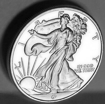 1/2 Troy Oz Walking Liberty By Great American Mint,  .999 Fine Silver Art Round