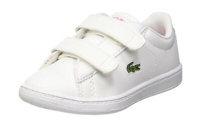 d7c966aa LACOSTE UNISEX KIDS' Carnaby Evo Bl 2 Sui Trainers White (Wht/Pnk B53) 5 UK