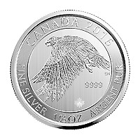 Lot of 90 x 1.5 oz 2016 Canadian Snow Falcon Silver Coin