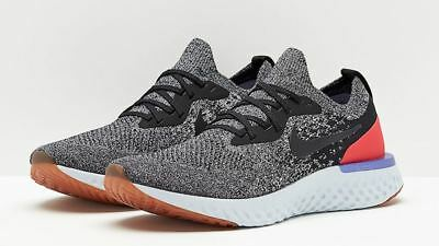 b2cbe2a2c03929 Nike Epic React Flyknit Men s Running Shoes  Size 12.5  Blk red Orbit Aq0067