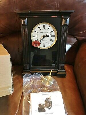 Howard Miller® 635-187 Mia Wood Wall Clock, Aged Dial, Chime, Worn Black Finish