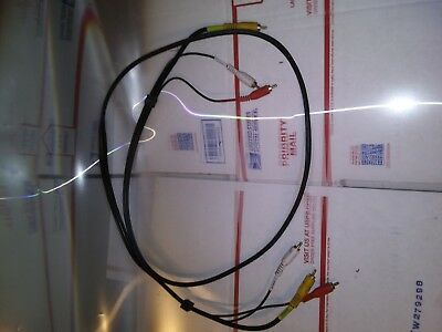 COMPOSITE RCA AUDIO VIDEO CABLE YELLOW WHITE RED 6' CORD for DVD VCR TV CAM