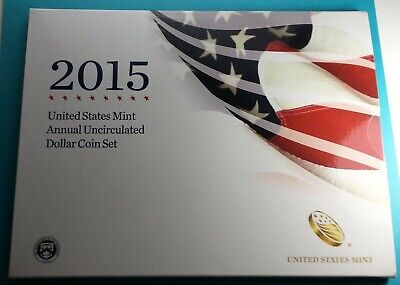2015 U.S. Annual Uncirculated Dollar Coin Set W/Silver Eagle Incl.