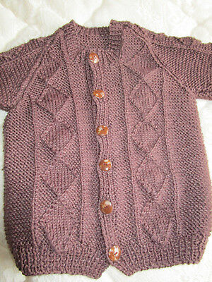 babies/toddlers hand knitted cardigan