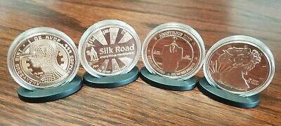 Anonymous Mint Copper Bitcoin Series Complete 3 Coin Set w/ Secret 4th Coin