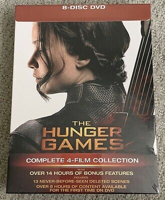 The Hunger Games: Complete 4-Film Collection (DVD, Brand New) - Free USPS Ship!