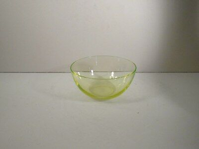 Hand Blown Yellow Vaseline (Uv Tested) Lead Crystal Glass Finger Bowl -Victorian