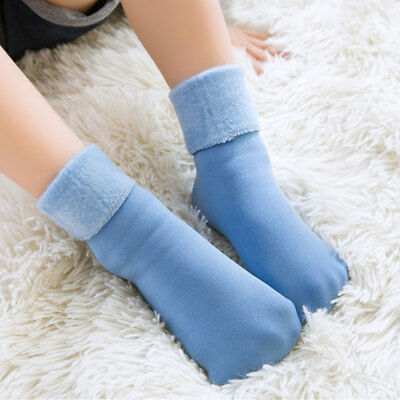 4bd176558 1/2 Pairs Childrens Girls Boys Winter Thermal Thick Boot Socks Kids Warm  Thicken