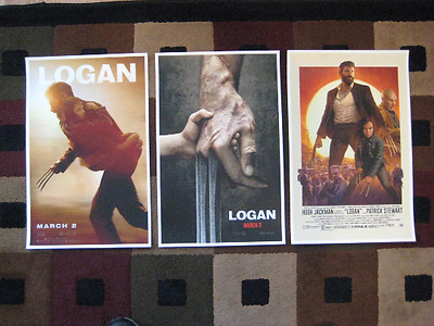 "Logan  (11"" x 17"") Movie Collector's Poster Prints ( Set of 3 )"