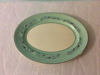 Johnson Brothers England Blue Rim Floral Ring 12 Inch Platter