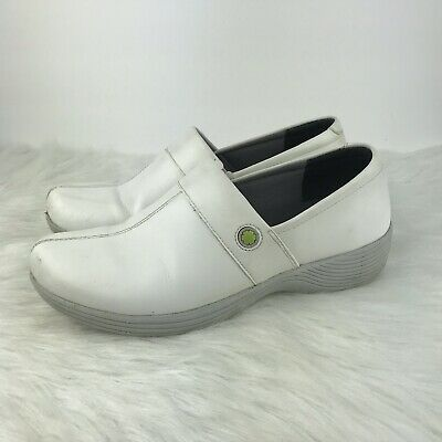 Clothing, Shoes & Accessories Cheap Price Work Wonders By Dansko 39 9 White Leather Clogs