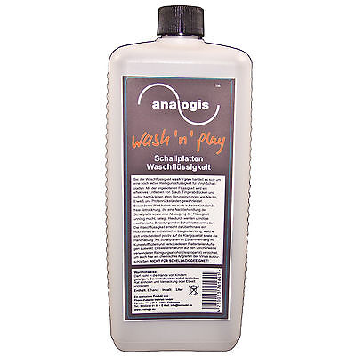 Analogis Wash 'N' Play Vinyl Records Cleaning Fluid 1 Liter (6164) New