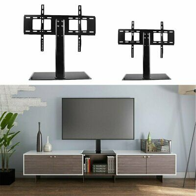 Universal Table Top Pedestal Tv Stand W Mount Bracket Lcd Led