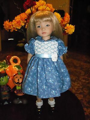 "Pretty Smocked  Party Dress for Dianna  Effner 13"" Little Darling Dolls"