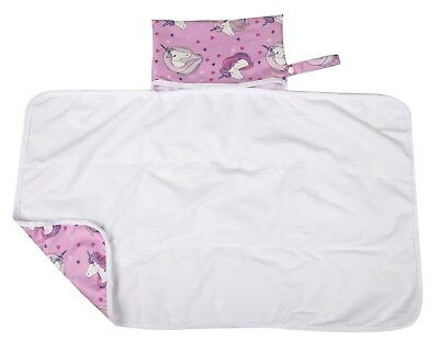 Large Diaper Changing Mat Pad Foldable Travel Portable Bag 30inx18.5in Unicorn