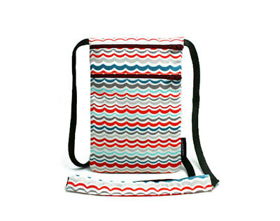 Fabric travel pouch, Passport holder, Travel Accessory, Chevron Wave - NEW