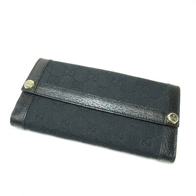 67e1ee27816 GUCCI 153211・2888 Purse (with coin purse) GGpattern canvas Leather