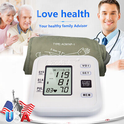 US Digital LCD Wrist Blood Pressure Monitor Health Care Automatic Blood Pressure