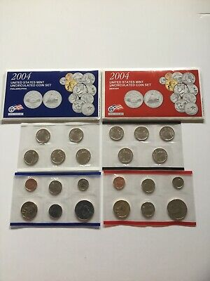 2004 US Mint Uncirculated P & D Complete Coin Set Unopened Box