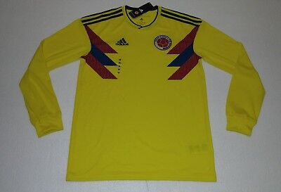 2018 Seleccion Colombia Home Adidas M Xl World Cup Jersey James Rodriguez  Falcao 531ad125f