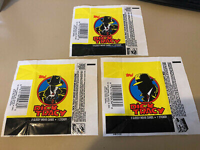 Dick Tracy - 10x Wax Pack Card Wrappers - 1990 Topps - No Tears !!!