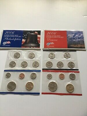 2006 US Mint Uncirculated P & D Complete Coin Set Unopened Box