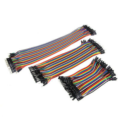 40pc Dupont Wire Color Jumper Cable 10cm 1P-1P Male-Female Fr Arduino Brea HYG