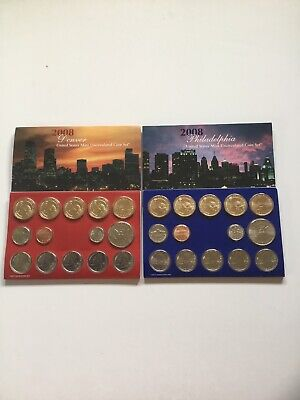 2008 US Mint Uncirculated P & D Complete Coin Set Unopened/ Opened Box