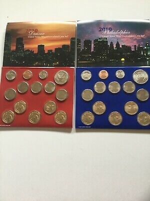 2010 US Mint Uncirculated P & D Complete Coin Set Unopened/ Opened Box