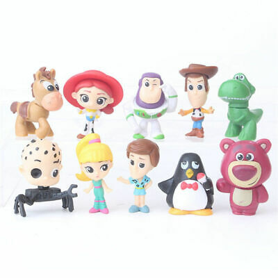 New 10pcs Disney Toy Story Figures Cute Figurine Toy Gift Cake Toppers 5-6CM