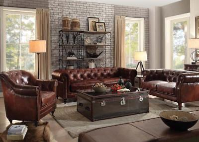 Superb Acme Furniture Aberdeen Leather Vintage Dark Brown Sofa And Pdpeps Interior Chair Design Pdpepsorg