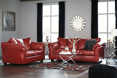 Phenomenal Ashley Furniture Betrillo Red Sofa And Loveseat Living Room Ibusinesslaw Wood Chair Design Ideas Ibusinesslaworg