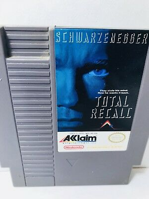 Total Recall NES (Nintendo Entertainment System, 1990) With Custom Case