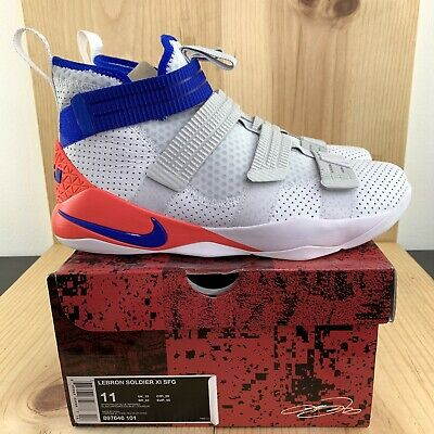 quality design dbc7c 045be NIKE LEBRON SOLDIER XI SFG Ultramarine Size 11 Basketball Shoes White Racer  Blue