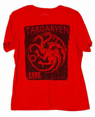 Game Of Thrones Fire And Blood Targaryen Dragon Graphic T-Shirt Hbo Got