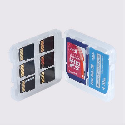 8 in 1 Hard Micro SD SDHC MS TF Memory Card Storage Box Protector Holder Case