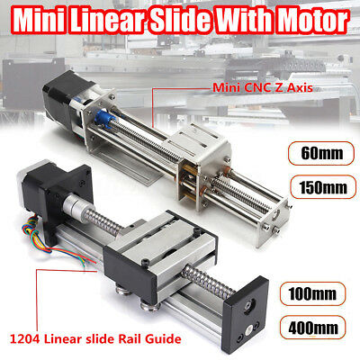 Ball Screw Linear CNC Slide Stroke 60mm-400mm Long Stage Actuator Stepper