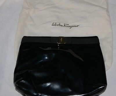 48c6bac771a2 Extremely Rare NOS 1960 s Salvatore Ferragamo Black Tote Purse D218065 with  Bag