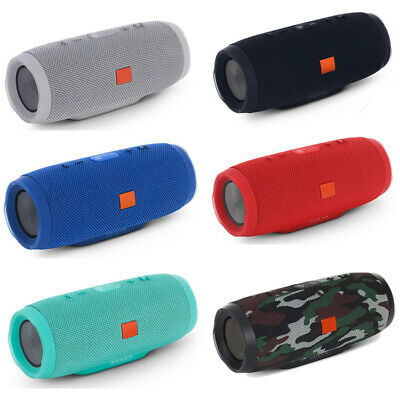 CHARGE 3+ Portable Waterproof Black Bluetooth Speaker Wireless Bass In Stock USA