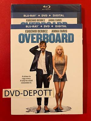 OVERBOARD BLU-RAY + DVD + DIGITAL HD & SLIPCOVER NEW Free Shipping