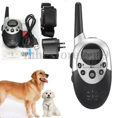 Rechargeable E-Collar Electric Shock 1000M Remote Control Dog Training