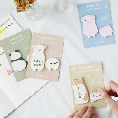 Cute Fat Little animal Weekly plan Sticky Notes Kawaii Stationery School Supply
