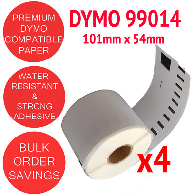 4 x Rolls Compatible Dymo 99014 Shipping / Address label 54mm x 101mm