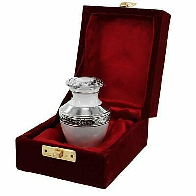 Everlasting Love White Small Keepsake Urns for Human Ashes - Set of 1 - Beautifu