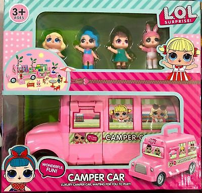 UK STOCK KIDS Camper Car Bus Van Surprise Dolls LOL Girls Playset Toy Gifts