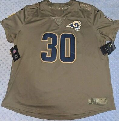 5066f9923 Nike Los Angeles Rams Todd Gurley II Jersey  30 Salute To Service Womens Sz-