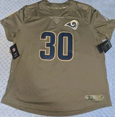 Nike Los Angeles Rams Todd Gurley II Jersey  30 Salute To Service Womens Sz- c8897e71a